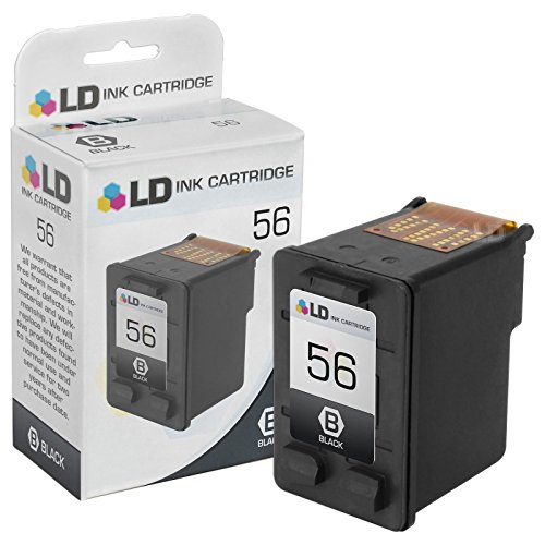 LD © Remanufactured Replacement Ink Cartridge for Hewlett Packard C6656AN (HP 56) Black (Cartridge Black C6656a 56 Inkjet)