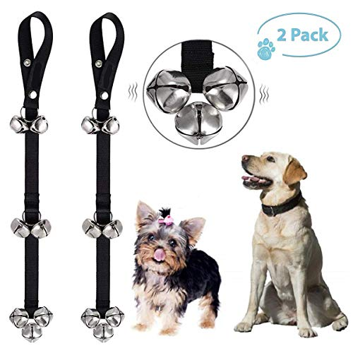 2 Pack Dog Bells for Potty Training, Premium Quality Doggie Doorbell – Puppy Door Bell – Doggy Doorbells, Ideal for Puppies Potty Training, Housetraining, Housebreaking, Adjustable Length 1.4 Inch