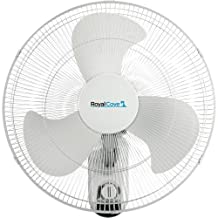 ROYAL COVE 2477855 3-Speed Oscillating Wall Mount Fan, 18-Inch