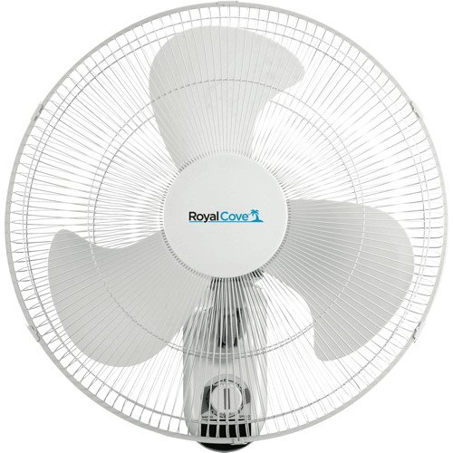 Royal Cove 2477855 3-Speed Oscillating Wall Mount Fan, 18""