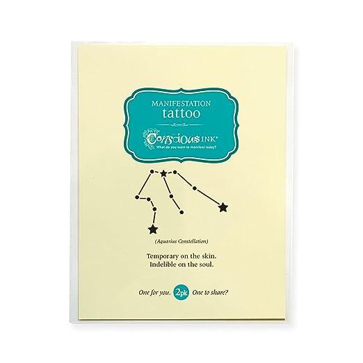 Conscious Ink Manifestación Tatuaje 2-Pack constelación de Acuario ...