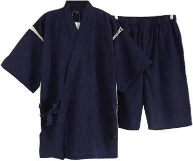 Traje de Pijama Kimono de Estilo japonés para Hombre [I]