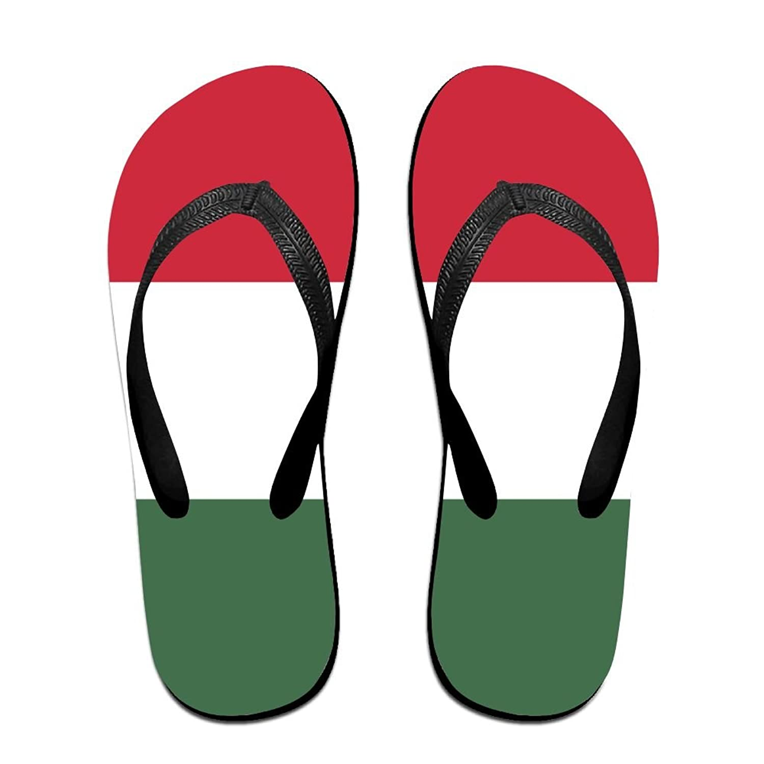 Flag Of Hungary Comfortable Flip Flops For Children Adults Men And Women Beach Sandals Pool Party Slippers