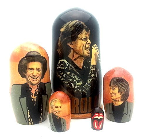 Rolling Stones band Russian Nesting dolls 5 piece DOLL Set 4