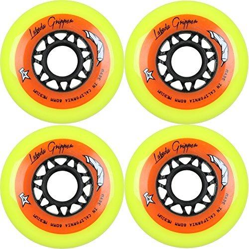 Labeda Gripper Inline Hockey Wheels (Yellow - Medium, 80mm)