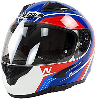 Amazon.es: Nitro N2300 Pioneer - Casco de moto, color blanco ...