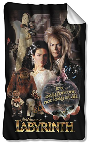 Labyrinth, Only Forever, Fleece Throw Blanket (36