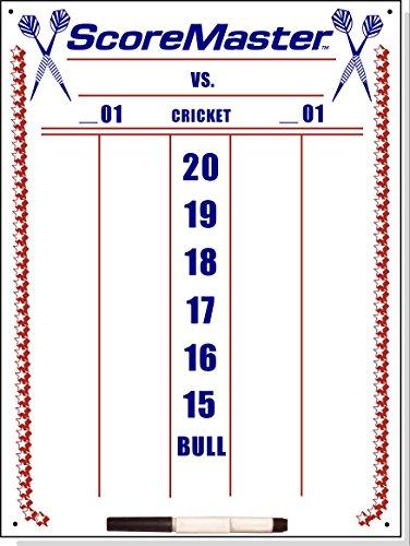 Scoremaster Dry Erase Cricket Dart Scoreboard (Medium Size)