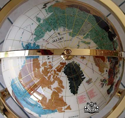 Gemstone World Map.Amazon Com Unique Art Since 1996 Collector S Edition14 Tall White