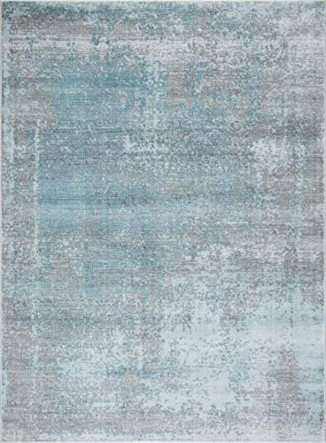 Mod-Arte | Mirage Collection | Area Rug | Modern Contemporary Style | Abstract| Soft Plush | Blue