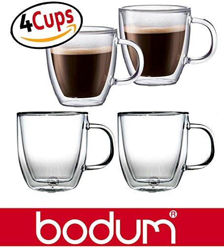 Bodum Bistro 5-Ounce Double Wall Glass, Espresso Coffee Cups