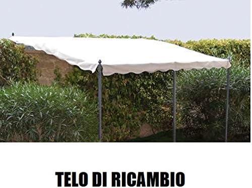Megashopitalia - Lona de repuesto para techo de pérgola - Medidas 3 x 4 m - Veranda de pared - Color crudo (sólo la lona): Amazon.es: Jardín