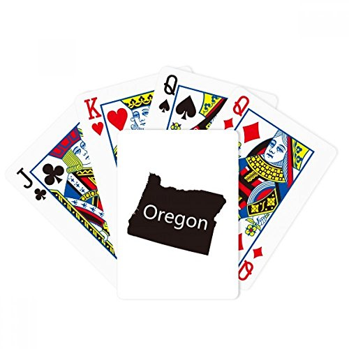 (DIYthinker Oregon The United States of America Map Poker Playing Cards Tabletop Game Gift)