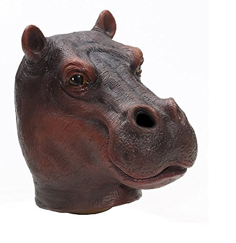 Forum Novelties Men's Adult Latex Hippo Mask, Multi Colored, One -
