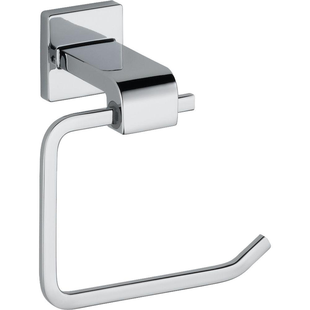 delta 77550 ara single post toilet paper holder chrome toilet paper holders amazoncom - Bathroom Accessories Delta