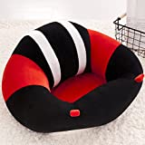Lecent@ Infant Safe Sitting Chair Comfortable Nursing Pillow Protectors for 3-10 Months (Black white red)