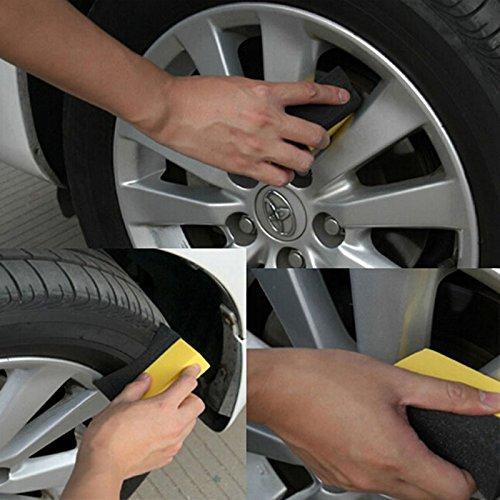 VIPASNAM-2pcs U-Shape Tire Wax Polishing Cleaning Sponge Rub ARC Tyre Brush Car Supplies