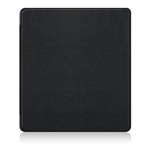 LDFAS Leather Cover for All-New Kindle Oasis E-reader (9th generation, 2017 release) - Full Cover Protector Case with Auto Wake / Sleep for Amazon Kindle Oasis 7 inch, Black