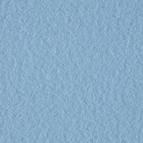 Textile Creations Double Brushed Solid Fleece Baby Blue Fabric by The Yard, (Fleece Light Fabric Blue)