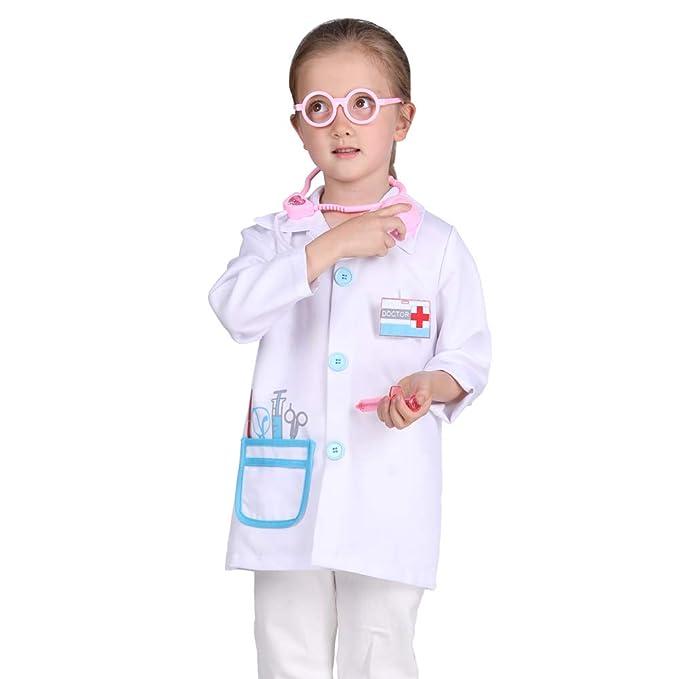 Amazon.com: Familus - Disfraz de médico para niños, color ...