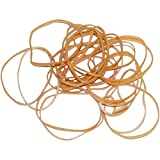 Ship Now Supply SNBAN405 Rubber Bands, 1/16'' x 2'', 10 Lbs., 0.063'' width, 2'' Length, Brown (Pack of 22000)