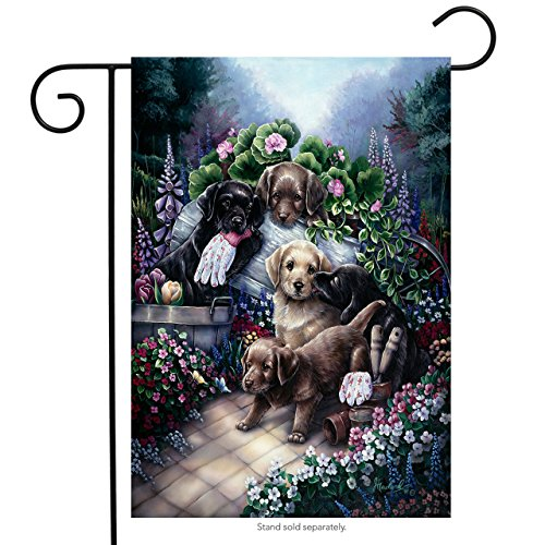 Gardening Puppies Garden Flag Floral Pet Dogs Everyday Yard