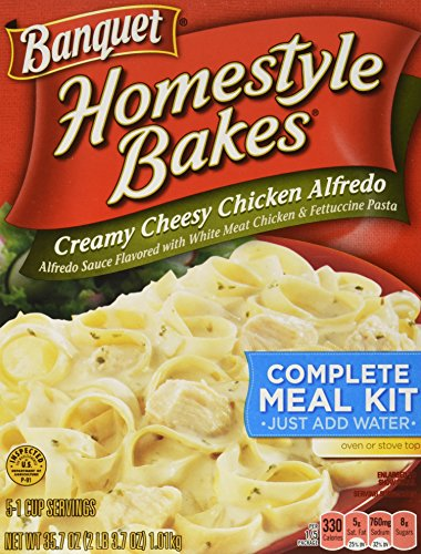 Banquet Home Style Bakes Creamy Cheesy Chicken Alfredo, 6 Count (Pack of 6) (Banquet Breakfast Sausage)