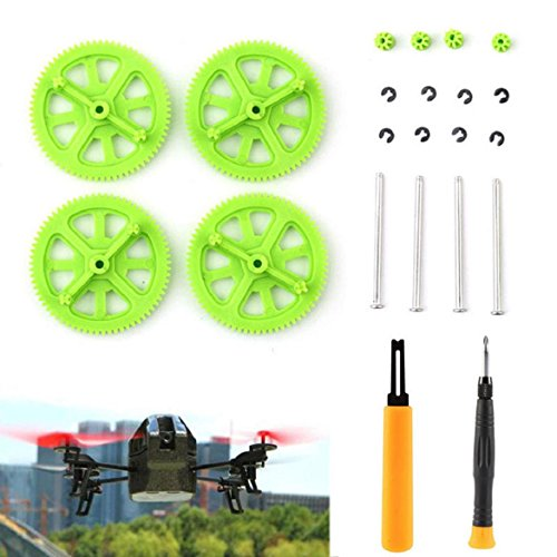 Susenstone®Green Pinion Shaft Mounting Tools & Gears Kit For Parrot AR Drone 2.0