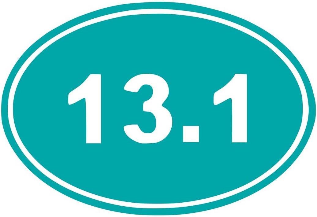 UR Impressions Teal 13.1 Dual Oval Half Marathon Decal Vinyl Sticker Graphics Cars Trucks SUV Vans Walls Windows Laptop|Teal|5.5 X 3.6 Inch|URI037-T