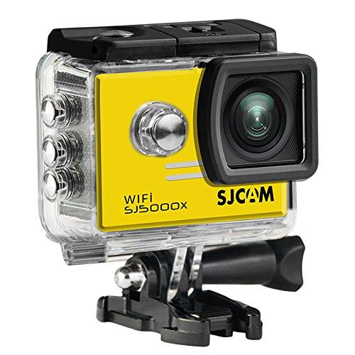 16GB TFカード+ SJCAM SJ5000XエリートスポーツアクションカメラウルトラHD 2.0インチLTPS WiFi 4K 24fps 2K30fpsジャイロスポーツDV 2.0 LCD NTK96660ダイビング30m防水アクションカメラ+ 1pcsバッテリー充電器+ 1pcs余分なバッテリー(yellow)。   B07CSJ6XCD
