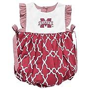 Vive La Fete Collegiate Mississippi State Bulldogs Embroidered Girls Bubble