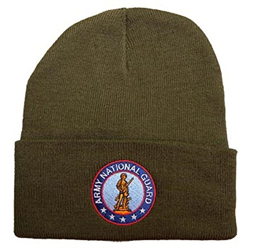 Eagle Crest Army National Guard Embroidered Polyester Knit Watch Cap