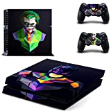 MyLifeUNIT PS4 Console Skin Batman and Joker Decal Sticker + 2 Controller Skins Set