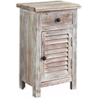 Ashley Furniture Signature Design - Charlowe Nightstand - Vintage Casual - White Wash