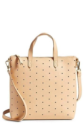 e6d9600e4c7f Madewell Mini Transport Perforated Leather Crossbody Bag in Linen: Handbags:  Amazon.com