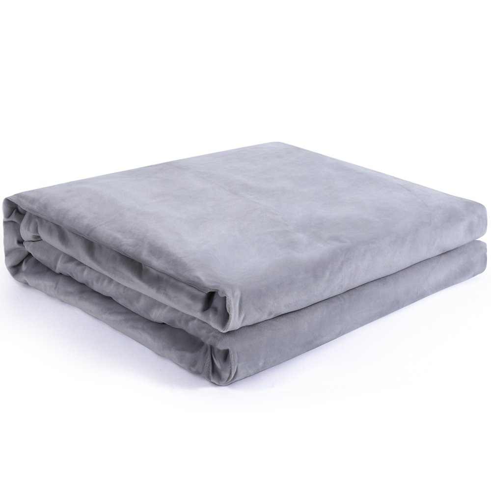 Cover for Gravity Blanket, Removable Duvet Covers for Weighted Blanket Inner Layer Keeping Clean - JUST COVER, While Protecting The Heavy Sensory Blanket - Dark Grey 60''x80''