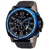 Stuhrling Original Men's 245A.332L51 Excursion Blazer Swiss Quartz Chronograph Blue Bezel Watch