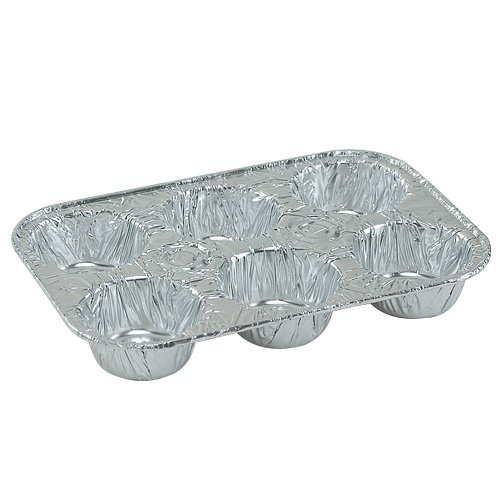 Nicole Home Collection 00563 Aluminum 6 Cup Muffin Pan (Pack of 200)