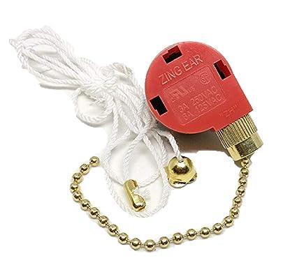 zing ear fan pull chain 3 speed control switch ze 208s ze 268s1 e89885 - -  amazon com