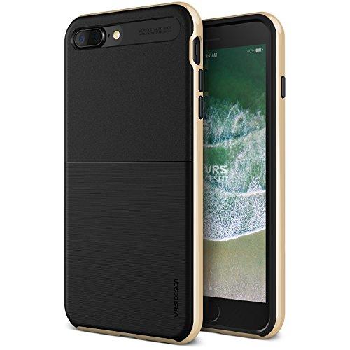 iPhone 7 Plus Hülle, VRS Design® Schutzhülle [Gold] Schlagfesten Stoßstangen TPU Bumper Case Kratzfeste Schlanke Handyhülle mit Klappständer [High Pro Shield] für Apple iPhone 7 Plus