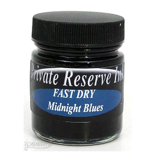 (Fountain Pen Ink Bottle - Midnight Blues - Fast Dry)