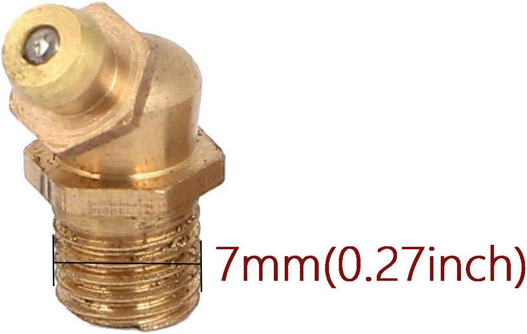 COMOK 25pce M6 Straight Brass Zerk Grease Nipple Fittings
