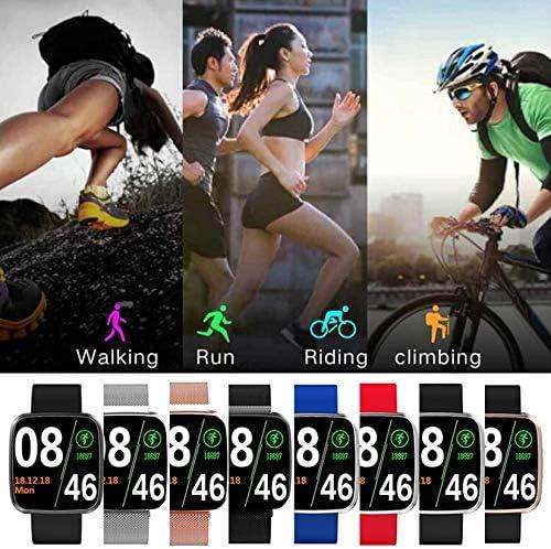 ZengBuks Braccialetto S7 Smart Braccialetto Schermo a Colori Sport Conteggio Passi Monitoraggio del Sonno Braccialetto Sportivo frequenza cardiaca - Nastro Blu Argento