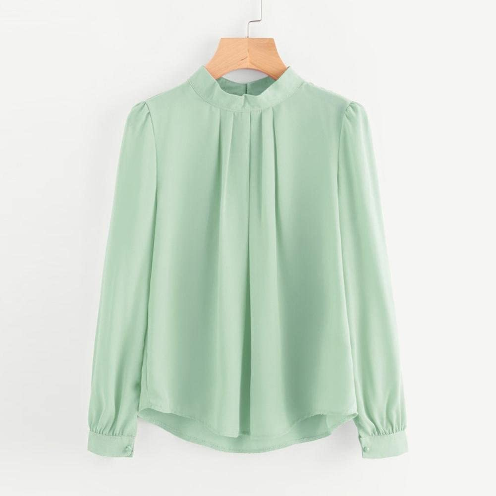 Verano mujeres camisa de manga larga floja ocasional de la ...