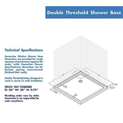 Lovely Double Threshold Shower Base, DLT 1036360   Shower Systems   Amazon.com