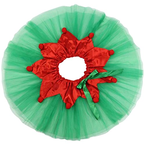Jastore Girls Layered Christmas Tutu Skirt Dance Princess Ballet Dress - Kids Christmas Dance Costumes