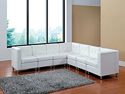 Amazon Com Modern Line Furniture 9049w G7 Modular Leather L Shape