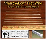 Narrow/Low Fret Wire for Mandolin, Banjo, Ukelele, Dulcimer & more - Six Feet
