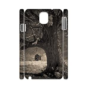 3D Samsung Galaxy Note 3 Case Beautiful Shot Old Farm House and Tree Old Photo, Old Photo Kweet, {White}