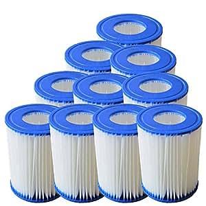 10pieza Pool Filtro Pool Filtro para Bestway flowcleartm Bomba de número de referencia 58148(2.006L/h)